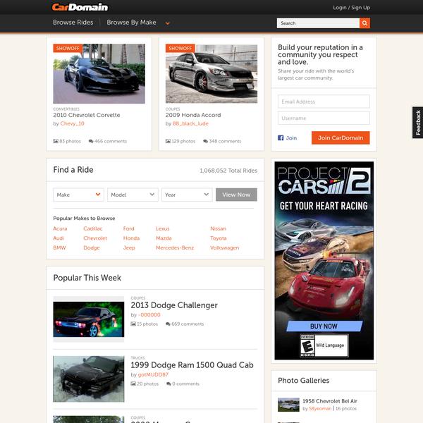 Cars, Trucks & SUVs Photos, Videos and News at CarDomain.com