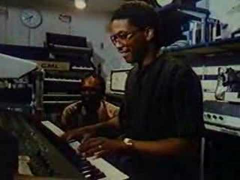 """TIMESTAMP 2:30  Herbie shows off on his Rhodes Chroma while Quincy Jones looks on. Taken from VHS recording of 1984 documentary """"I love Quincy"""" http://ftvdb.bfi.org.uk/sift/title/241382"""