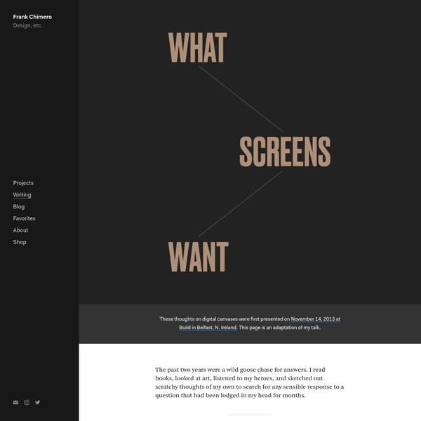 What Screens Want