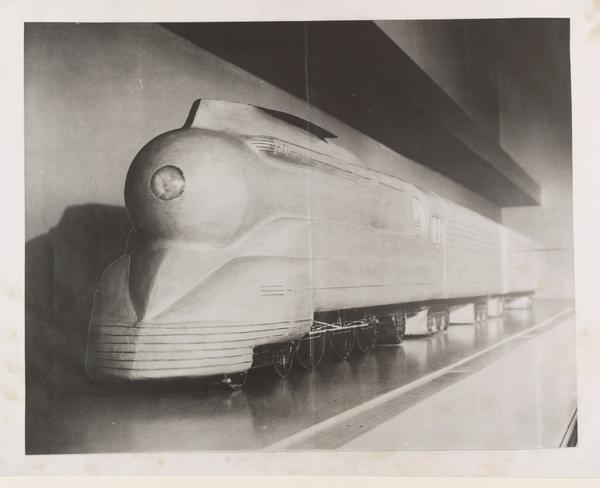 Plasticine Wind Tunnel Model For Streamlining A K4S Class Locomotive, Pennsylvania Railroad, 1936.jpg