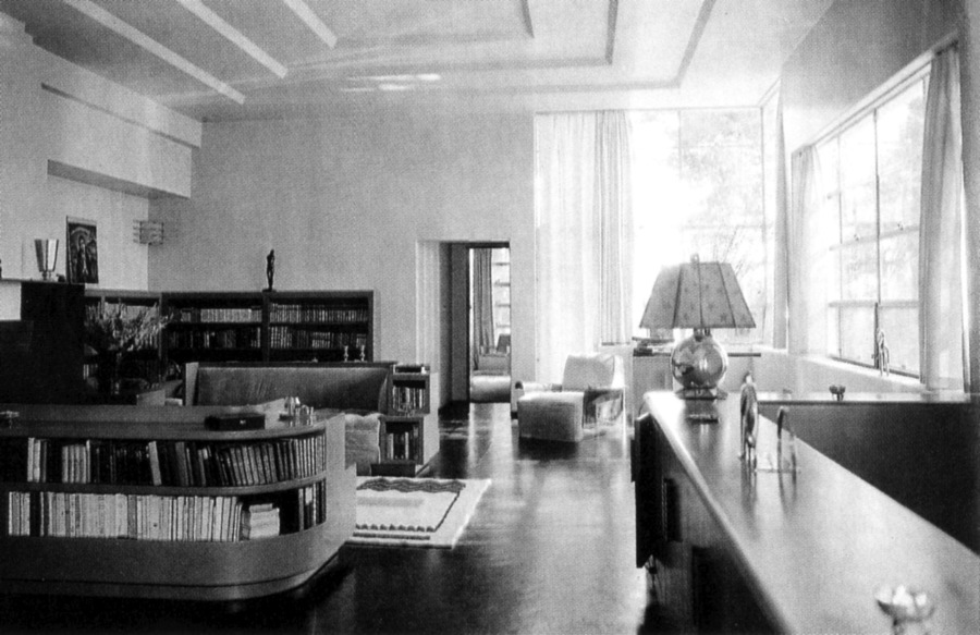 Interior of Gibbons's house in the Santa Monica Mountains as it appeared in 1930.jpg