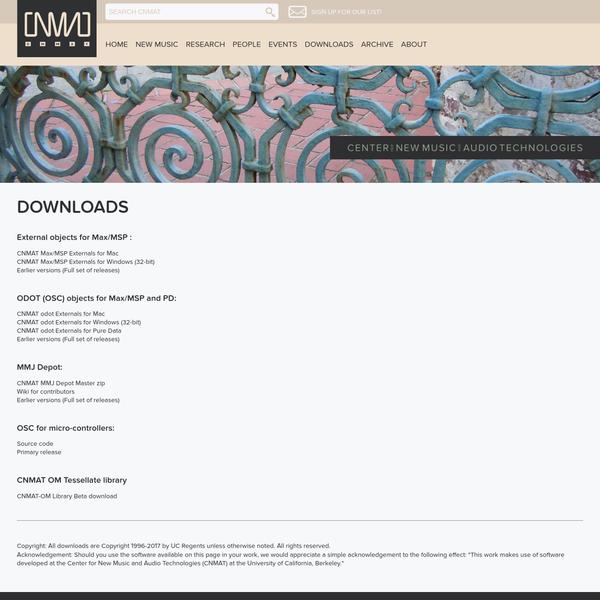Downloads | CNMAT