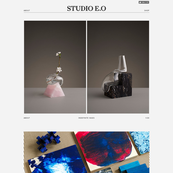 Studio E.O is a multidisciplinary design practice. It was founded by designer Erik Olovsson and is located in Liljeholmen in Stockholm.