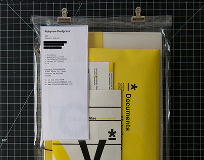 Portfolio Mail Package for MA Application 2016/2017