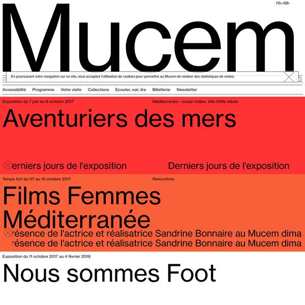 Premier grand musée national consacré à la Méditerranée, haut lieu de l'architecture et du patrimoine, le Mucem est une cité culturelle ouverte sur le large.