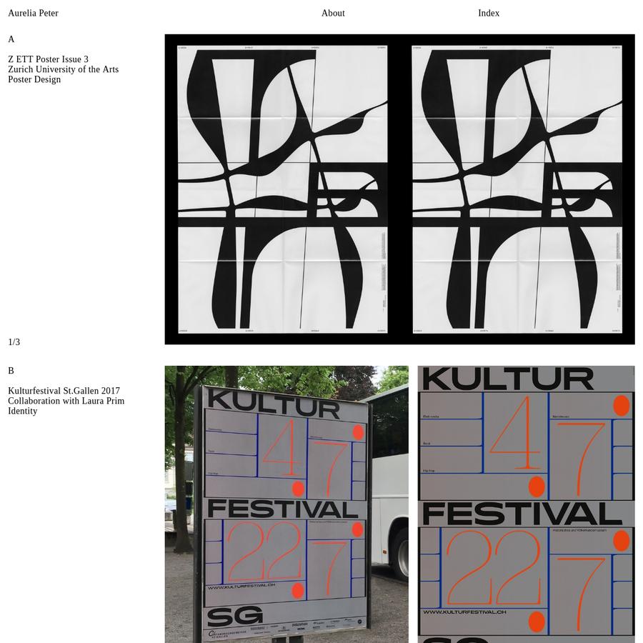 Aurelia Peter is a Swiss Graphic Designer based in St.Gallen and Zurich.