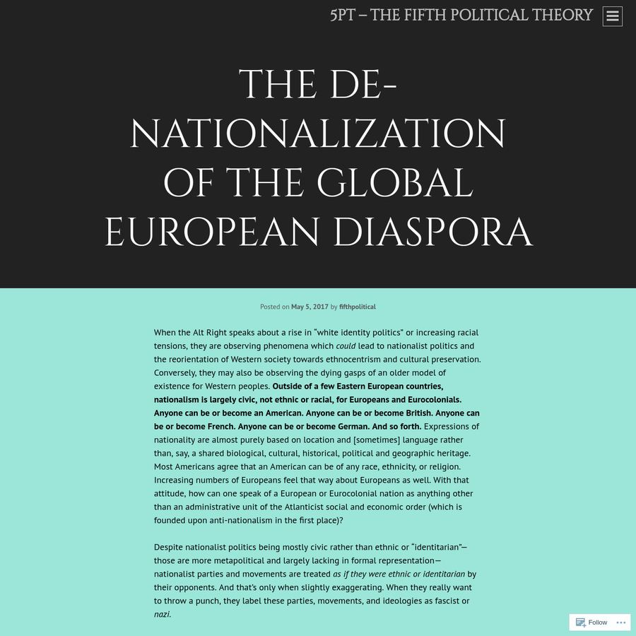 """ethnic nationalism civic nationalism This """"civic nationalism"""" is conciliatory and forward even as ethnic nationalism has it vulnerable to the turmoil and strife that the new nationalism."""
