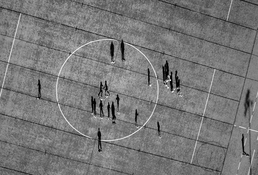 Drone Footage of sports field in NYC