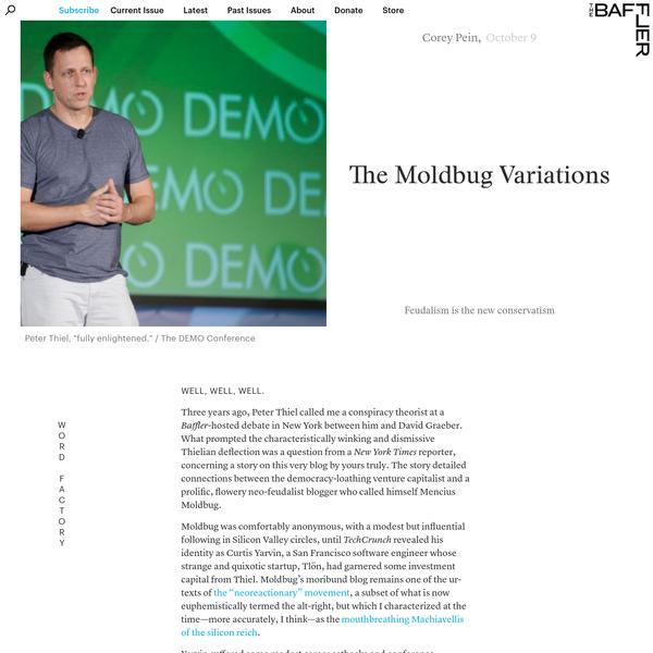 The Moldbug Variations | Corey Pein