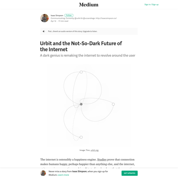 Urbit and the Not-So-Dark Future of the Internet - Isaac Simpson - Medium