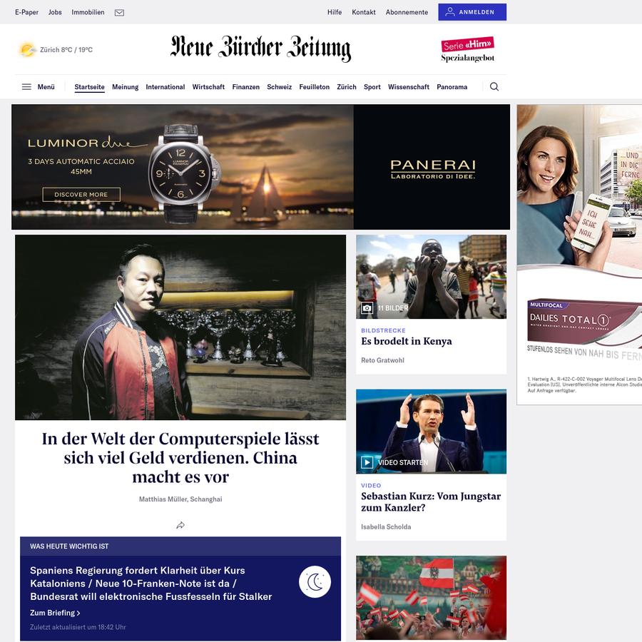 Fundierte Berichterstattung in der Neuen Zürcher Zeitung. Aktuelle Nachrichten, Hintergründe und Meinungen.
