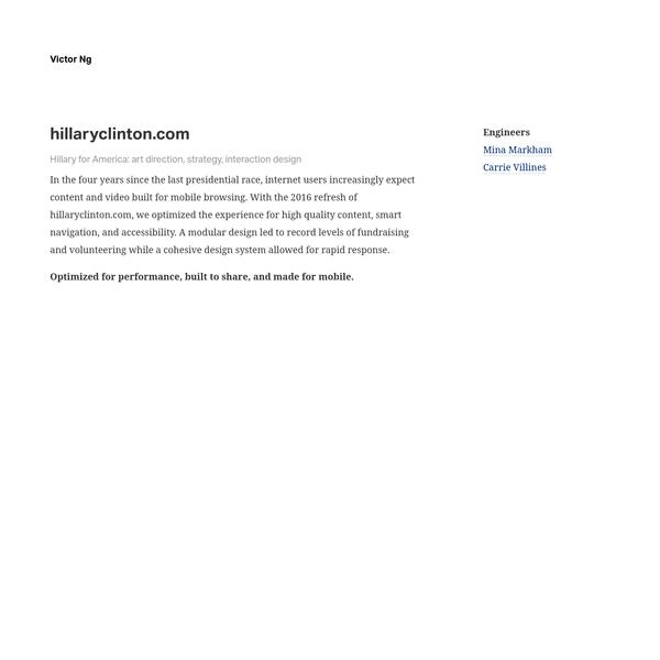 Redesigning hillaryclinton.com