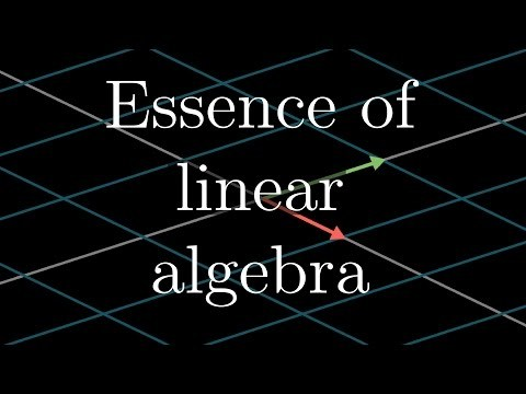 """This introduces the """"Essence of linear algebra"""" series, aimed at animating the geometric intuitions underlying many of the topics taught in a standard linear algebra course. Watch the full """"Essence of linear algebra"""" playlist here: https://goo.gl/R1kBdb Error correction: At one point I mistakenly allude to calculators using the Taylor expansion of sine for its computations, when in reality most use CORDIC (or something like it)."""