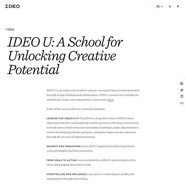 IDEO U: A School for Unlocking Creative Potential