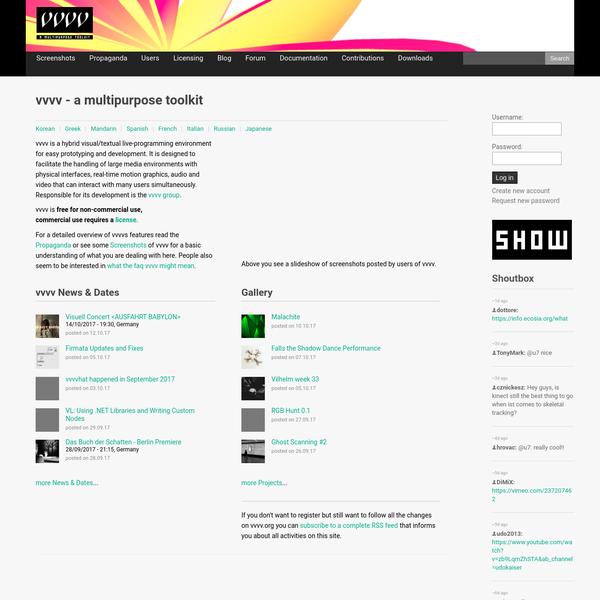 vvvv - a multipurpose toolkit