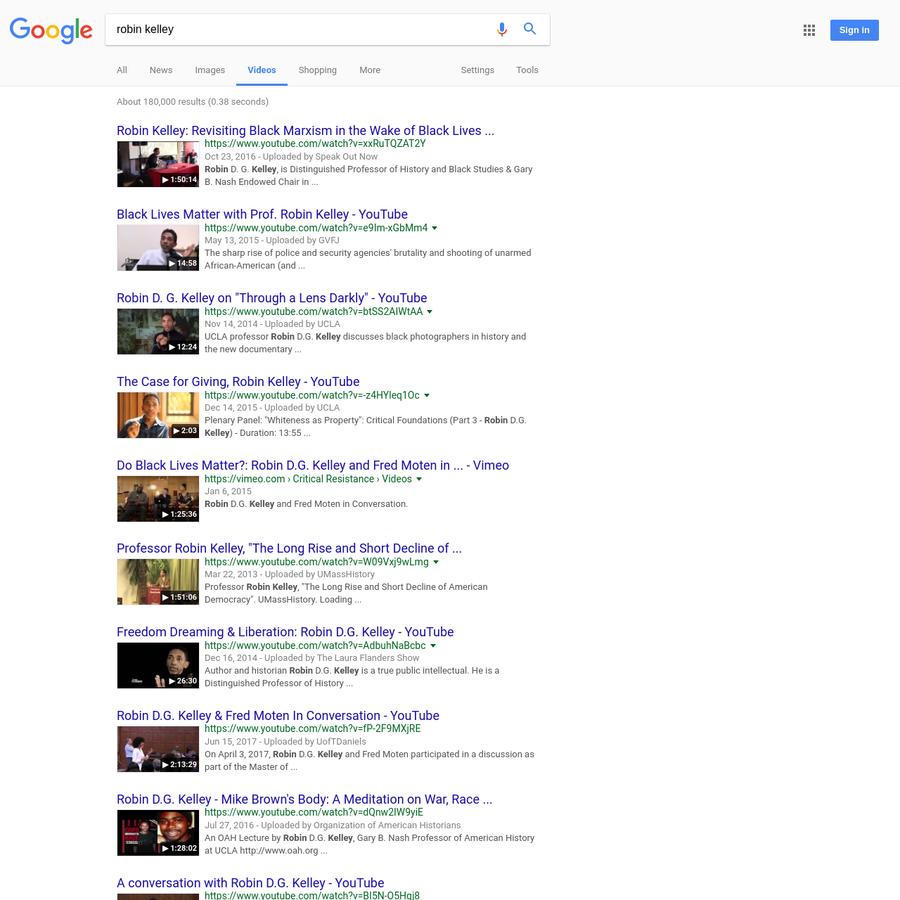 are na robin kelley google search
