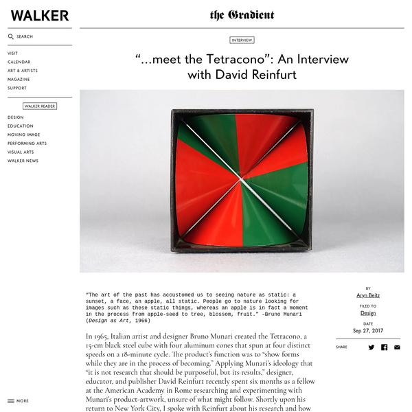 """...meet the Tetracono"": An Interview with David Reinfurt"