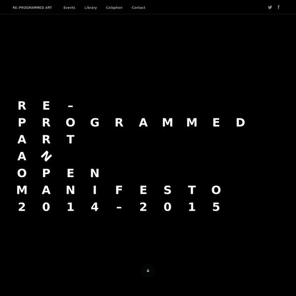 RE-PROGRAMMED ART 2014-15