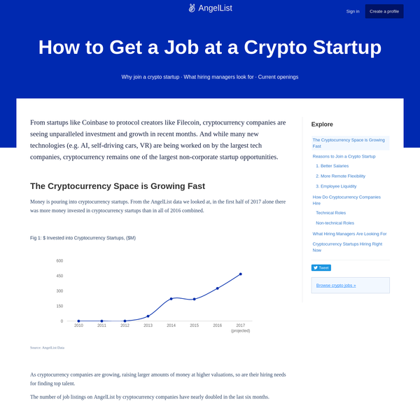How to Get a Job at a Crypto Startup