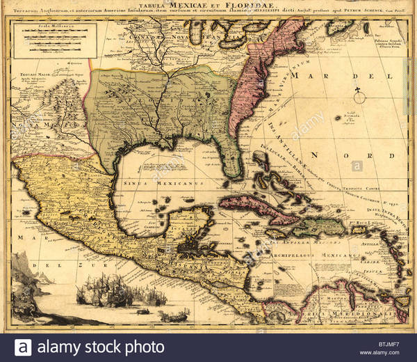 1710-dutch-map-of-north-america-and-the-caribbean-with-major-political-BTJMF7.jpg