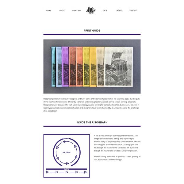 Printing - Risograph Print Guide