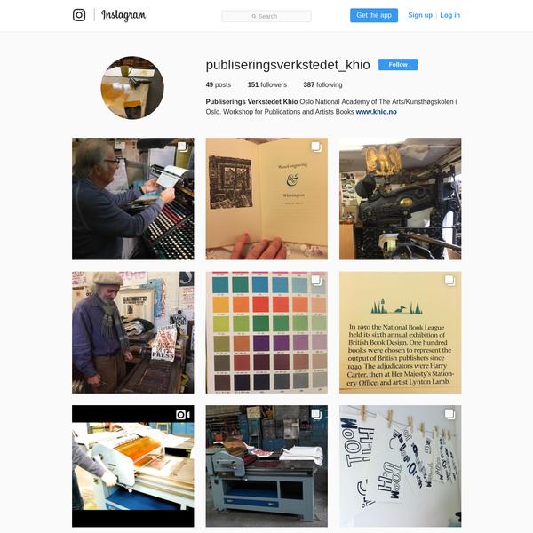 Publiserings Verkstedet Khio (@publiseringsverkstedet_khio) * Instagram photos and videos