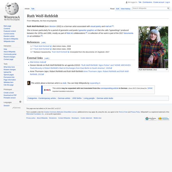 Ruth Wolf-Rehfeldt - Wikipedia