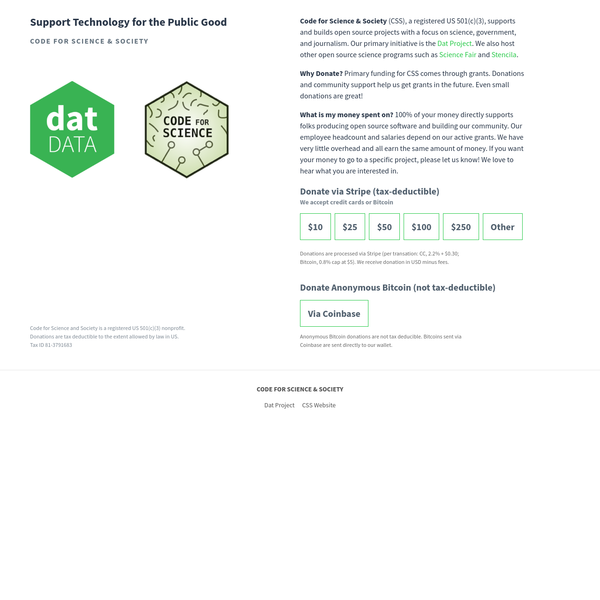 Dat is the nonprofit-backed technology & community for building apps of the future.