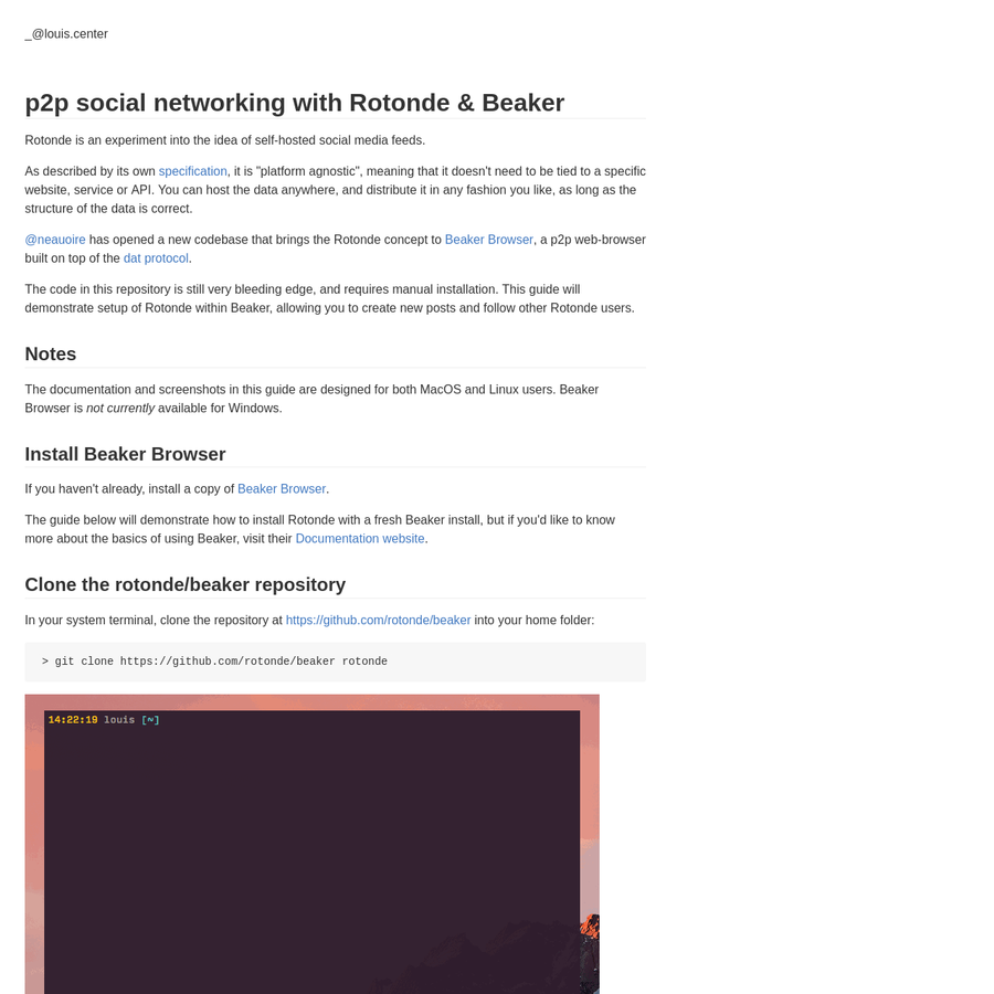 """Rotonde is an experiment into the idea of self-hosted social media feeds. As described by its own specification, it is """"platform agnostic"""", meaning that it doesn't need to be tied to a specific website, service or API. You can host the data anywhere, and distribute it in any fashion you like, as long as the structure of the data is correct."""