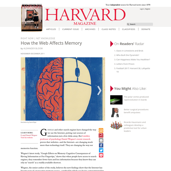 How the Web Affects Memory