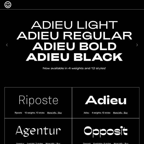 Good Type is a independent Oslo based type foundry, offering retail and custom typefaces for both digital and printed use. We design, develop and publish contemporary typefaces with high attention to detail.
