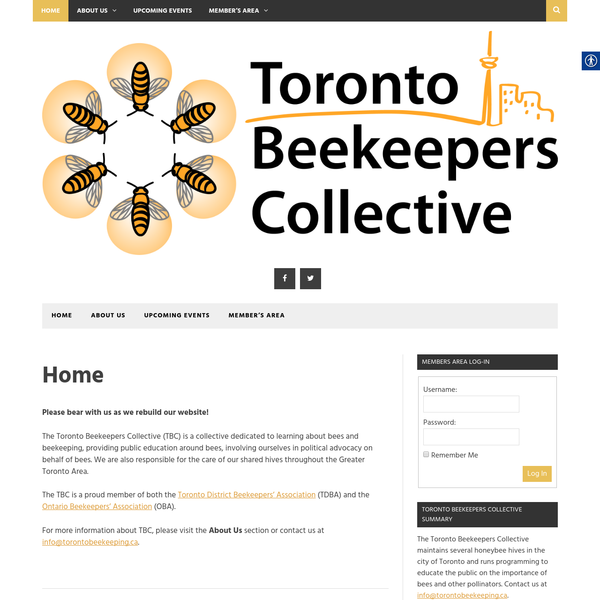 The Toronto Beekeepers Collective (TBC) is a collective dedicated to learning about bees and beekeeping, providing public education around bees, involving ourselves in political advocacy on behalf of bees. We are also responsible for the care of our shared hives throughout the Greater Toronto Area.