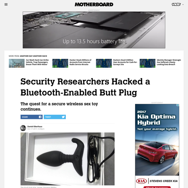 Security Researchers Hacked a Bluetooth-Enabled Butt Plug