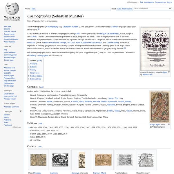 Cosmographia (Sebastian Münster) - Wikipedia