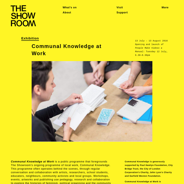 The Showroom | Communal Knowledge at Work