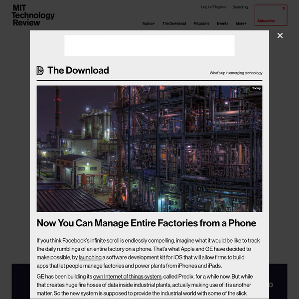 Now You Can Manage Entire Factories From a Phone