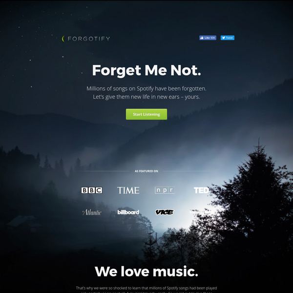 Millions of songs on Spotify have been forgotten. We're changing that.