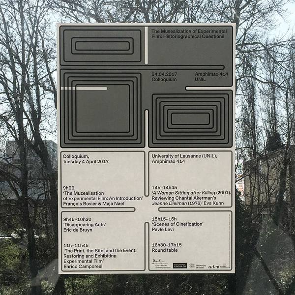 """194 Likes, 8 Comments - EUROSTANDARD (@eurostandard) on Instagram: """"The Musealization of Experimental Film: Historiographical Questions 04.04.2017 Colloquium Amphimax..."""""""