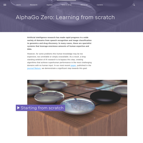 We introduce AlphaGo Zero, the latest evolution of AlphaGo, the first computer program to defeat a world champion at the ancient Chinese game of Go. Zero is even more powerful and is arguably the strongest Go player in history. Previous versions of AlphaGo initially trained on thousands of human amateur and professional games to learn how to play Go.