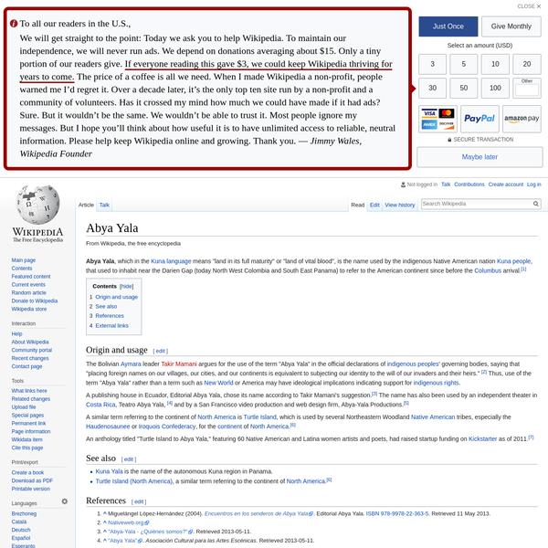 Abya Yala - Wikipedia