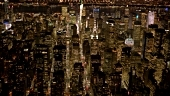 Stock Footage of aerail view of new york city skyline.