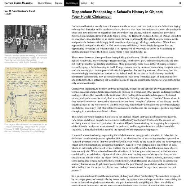 Institutional histories usually have a few common themes and concerns that prove useful to those trying to bring their histories to life. At the very least, ...