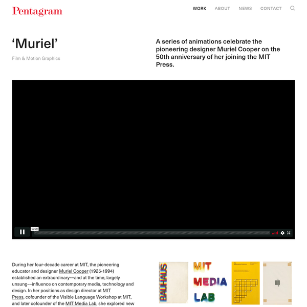 A series of animations celebrate the pioneering designer Muriel Cooper on the 50th anniversary of her joining the MIT Press.