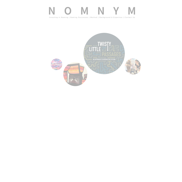 Don't Settle for a nom. or Just Some nym. Find Your Nomnym.
