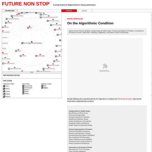On the Algorithmic Condition | Future Non Stop