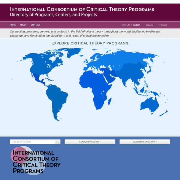 International Network of Critical Theory | Directory of Programs, Centers, and Projects