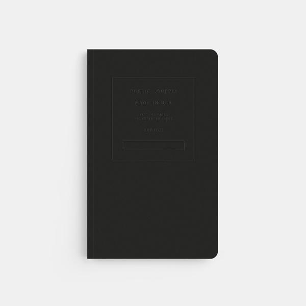 "Public - Supply 5x8"" Embossed in Black"