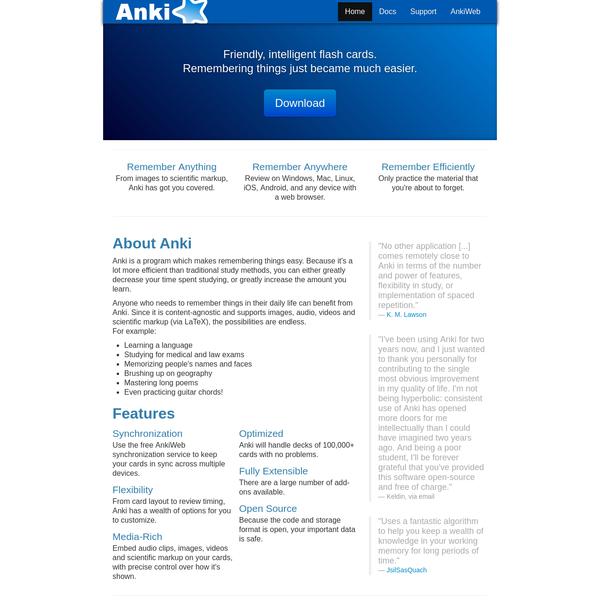 Anki - powerful, intelligent flashcards