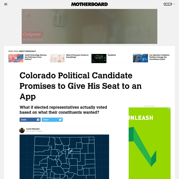 Colorado Political Candidate Promises to Give His Seat to an App