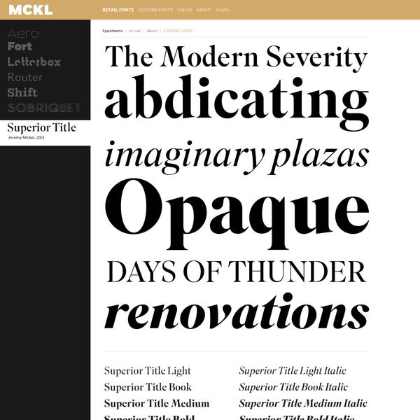 Favorite Typefaces: Serif